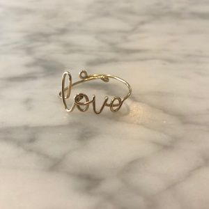 Jewelry - 100% gold plated Love Ring
